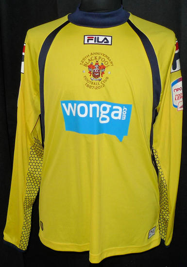 maglia blackpool fc 2012-2013 portiere outlet