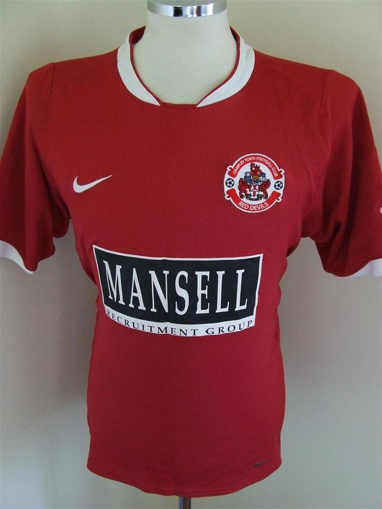 nuove maglie crawley town 2007-2008 prima divisa outlet